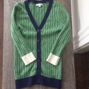 DownEast Cable V-Neck Cardi